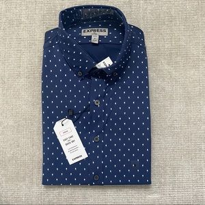 NWT Express Men's Fitted Easy Care Shirt